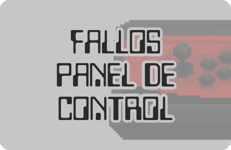 Posibles fallos en panel de control